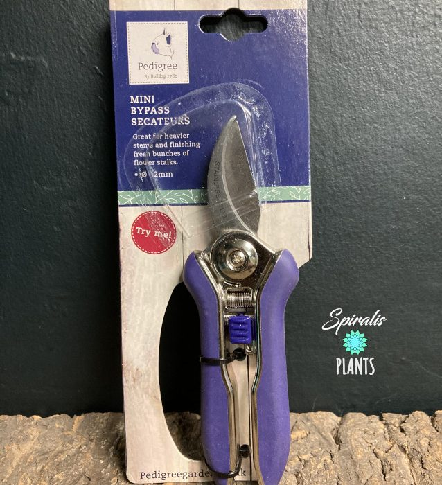 Pedigree Bypass Secateurs mini snips house plant tools