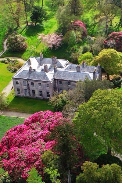 enys house and gardens aerial view